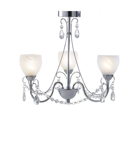Crawford 3-light Polished Chrome IP44 Ceiling Light CRA0350 (035378)